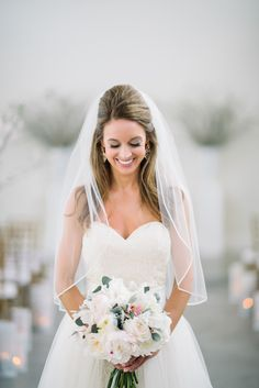Gorgeous bride! Check out this #RosemaryBeach #Wedding by @dearwesleyann with romantic details in blush, gold + white: http://www.confettidaydreams.com/rosemary-beach-weddings via @confettidaydreams