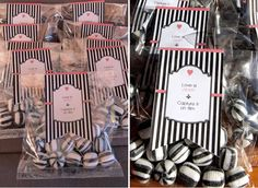 These wedding favors are super cute, and all sorts of simple. Grab your favorite candies and get ready to give your guests a treat!