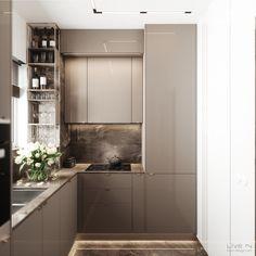 'Ggorgeous' Apartment — Live IN Wardrobe Interior Design, Flat Interior, Cafe Interior Design, Apartment Interior, Kitchen Room Design, Kitchen Dinning, Home Room Design, Kitchen Interior, Kitchen Furniture