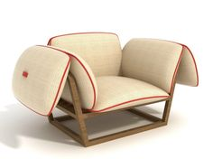 Wooden garden armchair SURPLUS | Potocco