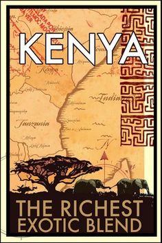Кения Экзотическая Смесь Африке Посетить Пейзаж Поездки Путешествия Ретро Старинные Плакат Декоративные DIY Стикер Стены Главная Бар Плакаты Декор