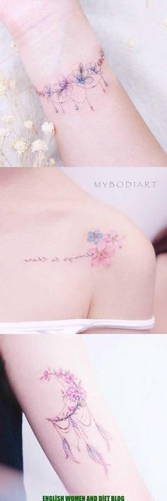 Girly Watercolor Flowers Flower Shoulder Wrist Tattoo Ideas for Women . Cute Girly Watercolor Flowers Flower Shoulder Wrist Tattoo Ideas for Women . Cute Girly Watercolor Flowers Flower Shoulder Wrist Tattoo Ideas for Women . Diy Tattoo, Tattoo On, Lotus Tattoo, Night Tattoo, Tattoo Quotes, Small Flower Tattoos, Flower Tattoo Designs, Small Tattoos, Tattoo Floral