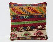 kilim pillow 16x16 sofa pillow cover turkish rug antique pillow case turkish pillow case victorian decor retro home decor throw pillow 25819
