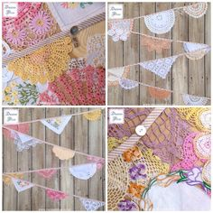Are you looking for that extra special gift for someone this Mother's Day? Have a little look at our range of vintage crochet doily bunting, we have lots of pretty designs in stock! Doily Bunting, Bunting Flags, Buntings, Flag Signs, Prayer Flags, Pretty Designs, Vintage Crafts, Cute Crafts, Vintage Crochet