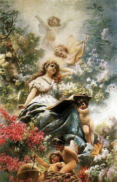 Cross Stitch Pattern Classic Art Painting by ZAnnaCrossStitch Vintage Prints, Vintage Art, Foto Transfer, I Believe In Angels, Angels In Heaven, Heavenly Angels, Art Database, Angel Art, Fine Art