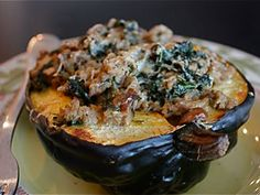 Stuffed Acorn Squash-Need to use squash and kale from bountiful basket