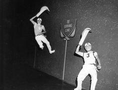 Jai-alai player leaps on the fronton - Orlando, Florida