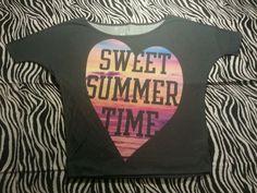 ~ Aéropostale Womens Junior  Gray Summer Fun Heart Tee Shirt ~Size M ~ EUC #Aropostale #KnitTop