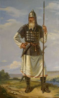 Russian warrior of 13 century