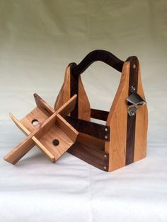 Wine and Beer Caddy Combo wood toys Handmade, Wine, Beer, Easter Gift