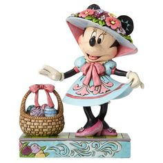 Disney Traditions Minnie Mouse in Easter Bonnet Statue - Enesco - Mickey Mouse - Statues at Entertainment Earth