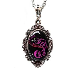 Alkemie Cheshire Cameo Necklace ($12) ❤ liked on Polyvore featuring jewelry, necklaces, cameo pendant, cameo jewelry, pendant jewelry, alkemie jewelry and cameo pendant necklace