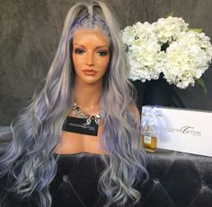 """Watch my new educational video on """" How to get perfect silver/ lilac hair colour. - make up and color help - Lilac Hair Weave Hairstyles, Cool Hairstyles, Hair Color Balayage, Hair Colour, Colour Colour, Lilac Hair, Hair Laid, Long Wigs, Wig Styles"""
