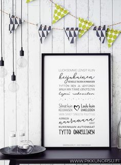 Lyrics posters and postcards from € Kids Songs, Play Houses, Letter Board, Kids Room, Nursery, Frame, Poster, Fun, Inspiration