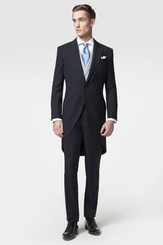 Hackett S Morning Suit For Any Formal Occasion In A Dark Navy Cloth Pair Up