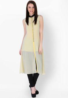 Yellow Solid Kurti - Sugar Her Kurtas & kurtis for women | buy women kurtas and kurtis online in indium