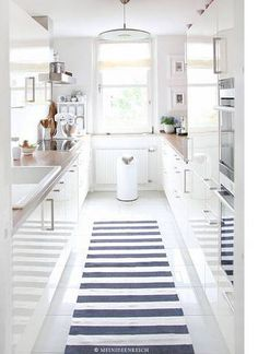 Small Galley Kitchen Ideas White And Blue Kitchen