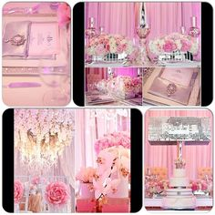 Pink and Gray / Pink and silver wedding decor