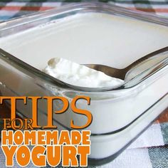 Homemade yogurt. It's so easy to make yogurt. Just follow these steps! | giverecipe.com