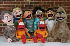 Leo and Friends by Thistledownpuppets. Great facial features.