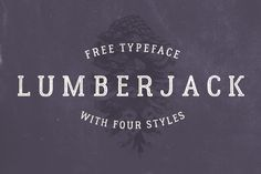 Lumberjack is a free set of 4 different font styles (regular, rough, inline & shadow) with multi-language support. Lumberjack is great for a variety …
