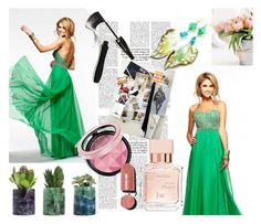 Chiffon Prom Dress With Beaded by johnnymuller on Polyvore featuring Chanel, Lancôme and Maison Francis Kurkdjian
