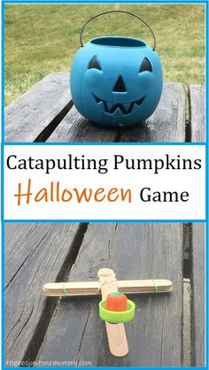 Turn a classic STEM activity into a fun Halloween game to play with the kids this October #Halloweengames #HalloweenSTEMactivity #Halloween