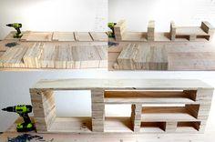 Un DIY pour fabriquer un meuble télé hyper original