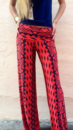 Crimson Tribal Exuma Pants - these look so comfy . and more stylish than yoga pants. Exuma Pants, Maxi Pants, Pj Pants, Sweat Pants, Palazzo Pants, Yoga Pants, Trousers, Teen Fashion, Fashion Outfits