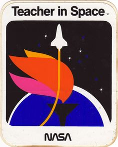 Nasa - Teacher in Space Sticker - 1986 by JasonLiebig, via Flickr