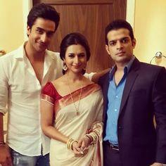 Divyanka tripathi n karan patel Indian Bollywood, Bollywood Fashion, Divyanka Tripathi Saree, Karan Patel, Yeh Hai Mohabbatein, Trendy Sarees, Star Cast, This Is Love, Indian Celebrities
