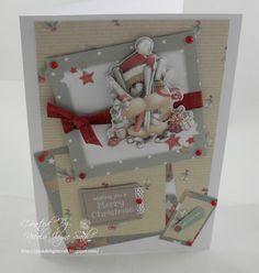 Docrafts Forever Friends Christmas Card Christmas Cards To Make, Xmas Cards, Christmas And New Year, Christmas Ideas, Forever Friends Cards, Digital Designer, Homemade Birthday Cards, Beren, Craftwork Cards