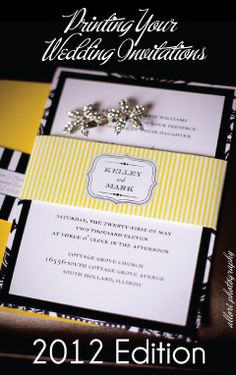 Invitation Printing Primer: Print Glossary + Pros and Cons... 2012 Edition