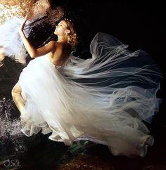 Riviera Maya Photography Cenote Trash the Dress  mermaid bride, divine!  Mexico wedding photographers Del Sol Photography