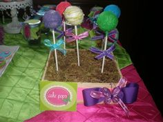 Cake pops from a butterfly baby shower #butterfly #babyshower