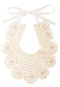 Pearl Flower Bib Necklace ONLINE EXCLUSIVE!
