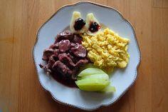 Montagsmenü 2: Rehschnitzel an Heidelbeersauce