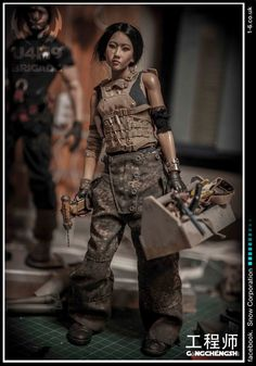 Fashion of The Multiverse Statues, Cyberpunk Fashion, Post Apocalypse, Custom Action Figures, Tank Girl, Figure Model, Shadowrun, Designer Toys, Toy Soldiers