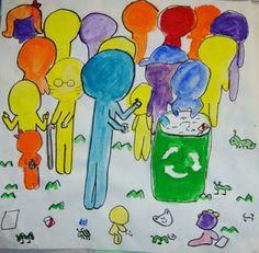 5th Grade Keith Haring Social Cause Posters