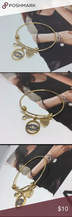Gold Stainless Steel Charms Bracelet Chic and stylish, this unique stainless steel charm bangle is expandable for convenience and comfort. Stainless Steel does not tarnish and Oxidize. High quality stainless steel has high resistance to rust, corrosion and tarnishing, which requires minimal maintenance. Stainless Steel does not tarnish and Oxidize. This bracelet is sure to be a special gift to be enjoyed! Packaged in a lovely Bag!   🔴I PRICES MY ITEMS REALLY LOW🔴 NO LAWBALLING ( consider…