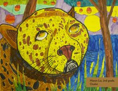 Art Contest Semifinalist, Grades K-2: Ocelot, Mason Liu, Age 7, Studio of Fine Art