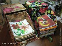 Boxes for storage of napkins. MK.