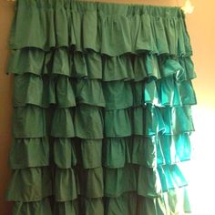 Waterfall Ruffle curtains!! DIY pinterest project! Completed!! Ruffle Curtains, Valance, Lighted Canvas, Pinterest Projects, Home Furniture, Living Spaces, Waterfall, Interior Decorating, Nightstands