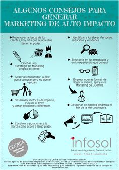 Consejos para generar marketing de alto impacto #infografia #infographic #marketing