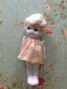 A Frozen Charlotte - Flapper Flirty Eye Kewpie Penny all Bisque Doll Vintage on Etsy, $15.00