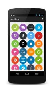 Droidicon – Over 1600 Beautiful Icons for Android with 750+ Google Material Design Icons