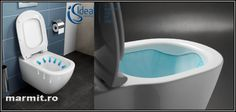 Wc suspendat Tesi Aquablade cu capac soft-close, obiecte sanitare, cazi de baie… Deco, Bathtub, Concept, Bathroom, Faucet, Standing Bath, Washroom, Bath Tub, Decoration