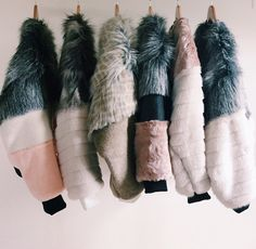 vegan faux fur bombers by tdsh YES