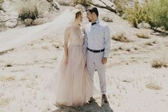 Tendance Robe du mariée 2017/2018  Eclectic Palm Springs wedding with a blush pink wedding dress
