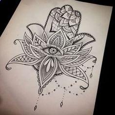 hamsa lotus tattoo - Buscar con Google